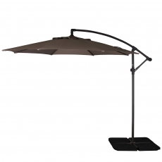 Genoa - 3m Free Arm Parasol In Taupe