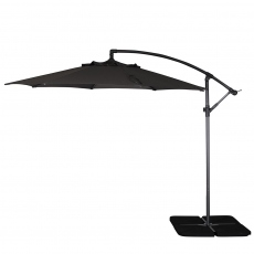 Genoa - 3m Free Arm Parasol In Grey