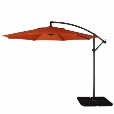 Genoa - 3m Free Arm Parasol In Orange