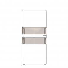 Varenna - UV8-402L Display Unit With Two Glass Sides With Left Hinge