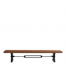 Colossus - Dining Bench Straight Edge Kansas Leg 300 x 40cm