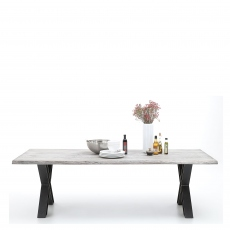 Mondo - Dining Table Straight Edge X-Leg