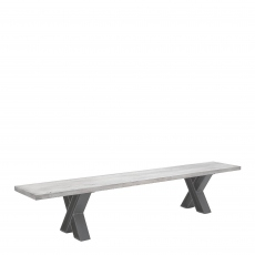 Mondo - Dining Bench Straight Edge X Leg