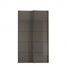 Hilton - 150cm Sliding-Door Wardrobe With 2 Glass Doors In Havana Finish