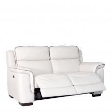 Monza Leather - 2 Seat Sofa With Double Power Recliner In Cat 10/Split Leather