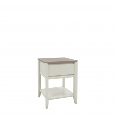Bremen - Lamp Table With Drawer In Grey Washed Oak With Soft Grey Finish