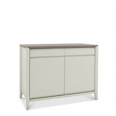 Bremen - Narrow Sideboard In Grey Washed Oak With Soft Grey Finish