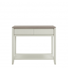 Bremen - Console Table With Drawer In Grey Washed Oak With Soft Grey Finish