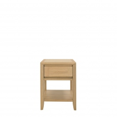Bremen - Lamp Table With Drawer With Oak Finish