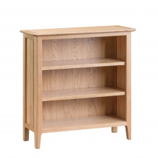 Suffolk - Small Wide Bookcase Oak Finish