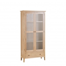 Suffolk - Display Cabinet Oak Finish