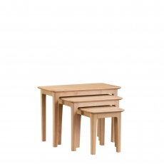 Suffolk - Nest of 3 Tables Oak Finish