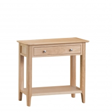 Suffolk - Console Table Oak Finish