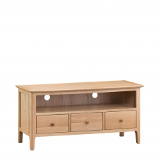 Suffolk - Large TV Cabinet Oak Finish