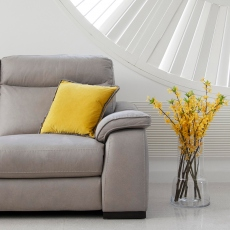 2.5 Seat Sofa With 2 Manual Recliners In Fabric
