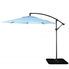 Genoa - 3m Free Arm Parasol In Duck Egg Blue