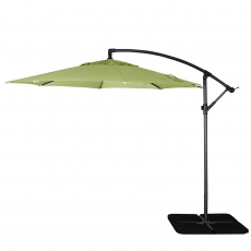 Genoa - 3m Free Arm Parasol In Old Green