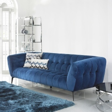 Vincenzo - Large Square Footstool In Grade BSF30 Fabric