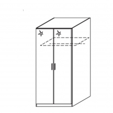 Cosmo - 2 Door Hinged Door Robe