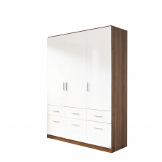 Cosmo - 3 Door 6 Drawer Hinged Combi Robe Height 210cm