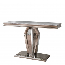 Missano - Console Table Grey Marble Top