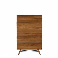 Pagoda - 5 Drawer Tall Chest