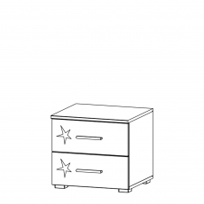 Cosmo - 2 Drawer Bedside