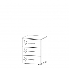 Cosmo - 3 Drawer Bedside Table