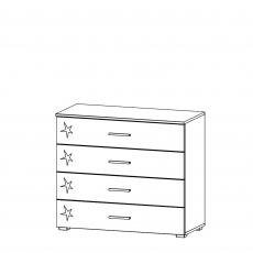 Amalfi - 4 Drawer Wide Chest