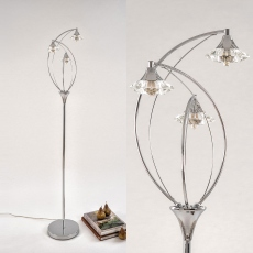 Lena Floor Lamp Polished Chrome
