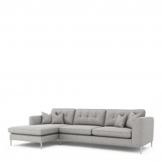Colorado - Standard Back Large Chaise Sofa LHF Chaise With 3 Seat 1 Arm RHF In Grade C Fabric