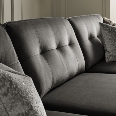 Colorado - Standard Back Small Chaise Sofa 3 Seat 1 Arm LHF With Chaise RHF In Grade E Fabric