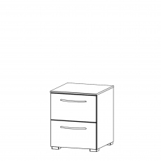 Charlton - 40cm 2 Drawer Bedside Table