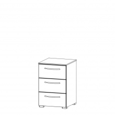Charlton - 40cm 3 Drawer Bedside Table