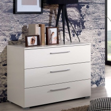 Charlton - 40cm 3 Drawer Bedside Table High Polish Front