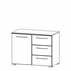 Charlton - 80cm 1 Door 3 Drawer Chest