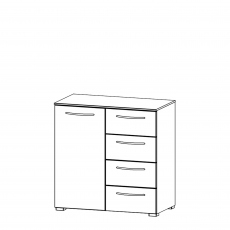 Charlton - 80cm 1 Door 4 Drawer Chest