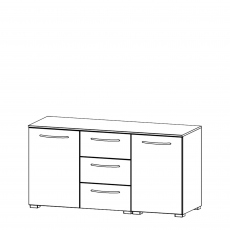 Charlton - 120cm 2 Door 3 Drawer Chest