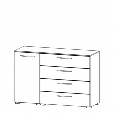 Charlton - 120cm 1 Door LH 4 Drawer Chest