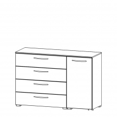 Charlton - 120cm 1 Door RH 4 Drawer Chest