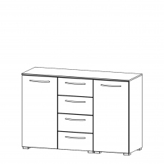 Charlton - 120cm 2 Door 4 Drawer Chest