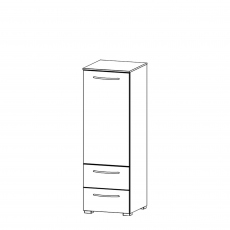 Charlton - 40cm 1 Door LH 2 Drawer Chest
