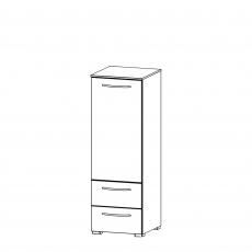 Charlton - 40cm 1 Door RH 2 Drawer Chest