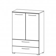 Charlton - 80cm 2 Door 2 Drawer Chest