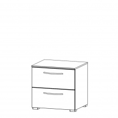 Charlton - 50cm 2 Drawer Bedside Table
