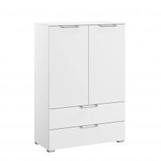 Strada - 80cm 2 Door 2 Drawer Chest