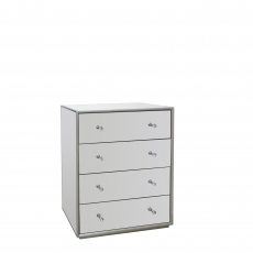 Sofia - 4 Drawer Chest Mirrored