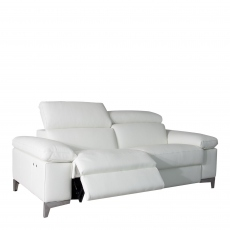 Santoro - 2 Seat Sofa With Power Recliners In Leather Cat CC