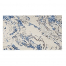 Silky Rug SLY03 Blue/Ivory/Grey