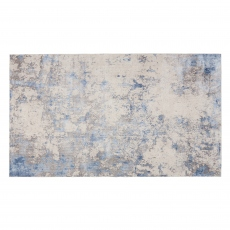 Silky Rug SLY04 Blue/Ivory/Grey